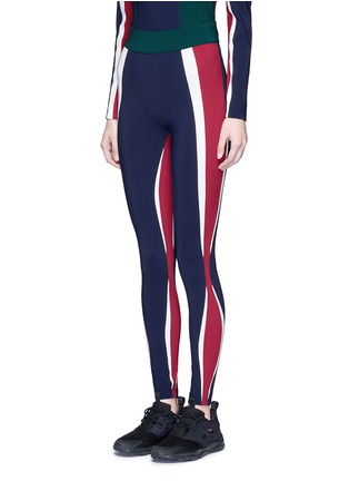 Front View - Click To Enlarge - NO KA'OI - 'Kihi' colourblock performance leggings