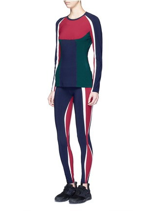 Figure View - Click To Enlarge - NO KA'OI - 'Kihi' colourblock performance leggings