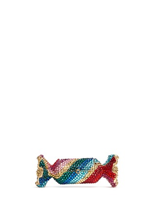 Main View - Click To Enlarge - Judith Leiber - 'Candy' rainbow twist crystal candy pill box