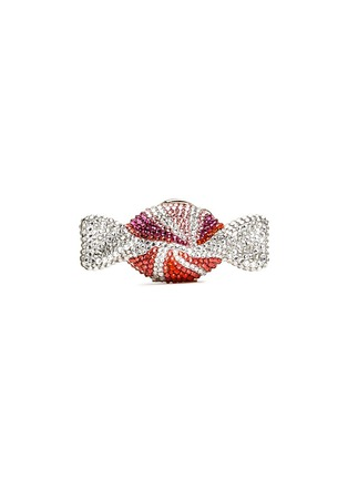 Figure View - Click To Enlarge - JUDITH LEIBER - 'Candy' peppermint swirl crystal pill box
