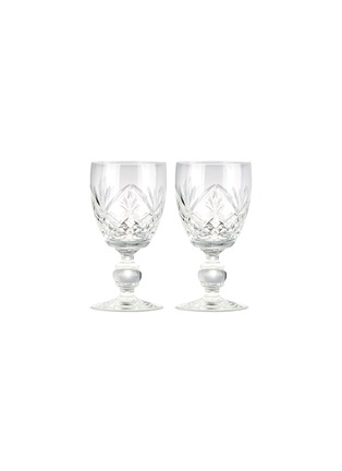 Main View - Click To Enlarge - Authentiques - Star cut two-piece vintage glass set