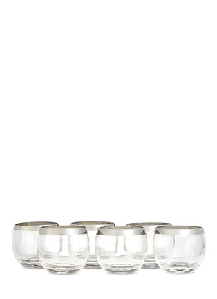 Main View - Click To Enlarge - Authentiques - Dorothy Thorpe sterling silver band vintage glass set