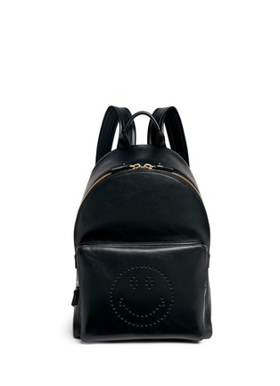 Main View - Click To Enlarge - Anya Hindmarch - 'Smiley' leather backpack