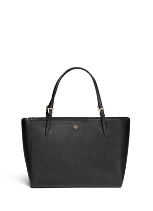 Main View - Click To Enlarge - Tory Burch - York' saffiano leather buckle tote