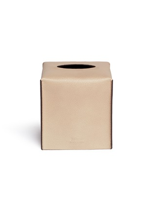 Main View - Click To Enlarge - Pinetti - LIVERPOOL SQUARE LEATHER TISSUE BOX
