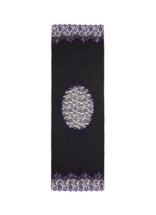 Main View - Click To Enlarge - Janavi - 'Venetian Mirror' lace insert cashmere scarf