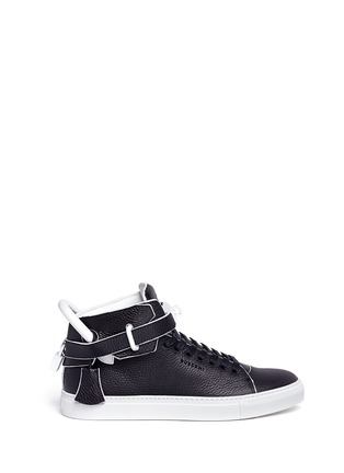 Main View - Click To Enlarge - Buscemi - '100MM Edge' high top leather sneakers