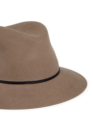 Detail View - Click To Enlarge - Janessa Leone - 'Lola' leather band wool felt fedora hat