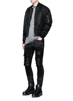 Figure View - Click To Enlarge - Amiri - Shimmer finish slim fit biker jeans