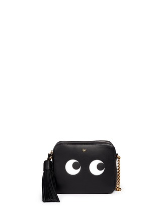 Main View - Click To Enlarge - ANYA HINDMARCH - 'Eyes' embossed leather chain crossbody bag