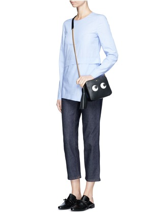 Figure View - Click To Enlarge - ANYA HINDMARCH - 'Eyes' embossed leather chain crossbody bag