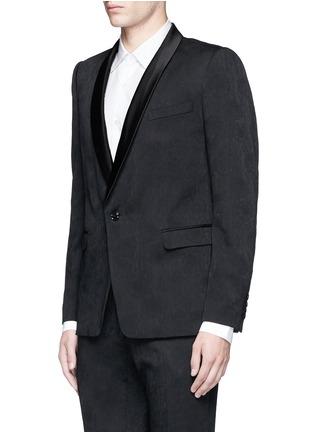 Front View - Click To Enlarge - Dries Van Noten - 'Brosh' jacquard tuxedo blazer