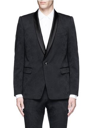 Main View - Click To Enlarge - Dries Van Noten - 'Brosh' jacquard tuxedo blazer