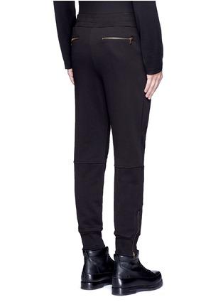 Back View - Click To Enlarge - Dries Van Noten - 'Hailey' zip cuff jogging pants