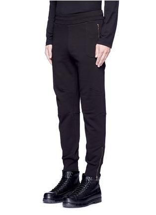 Front View - Click To Enlarge - Dries Van Noten - 'Hailey' zip cuff jogging pants