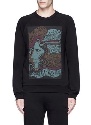 Main View - Click To Enlarge - DRIES VAN NOTEN - 'Howard' psychedelic print sweatshirt