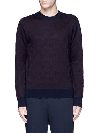 Main View - Click To Enlarge - Dries Van Noten - 'Mika' peacock jacquard sweater