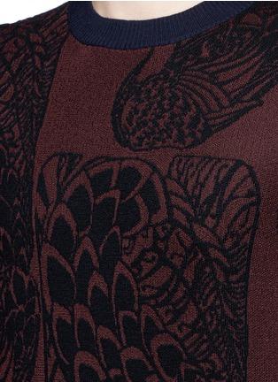 Detail View - Click To Enlarge - Dries Van Noten - 'Mikolay' peacock jacquard sweater