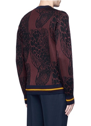 Back View - Click To Enlarge - Dries Van Noten - 'Mikolay' peacock jacquard sweater