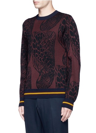 Front View - Click To Enlarge - Dries Van Noten - 'Mikolay' peacock jacquard sweater