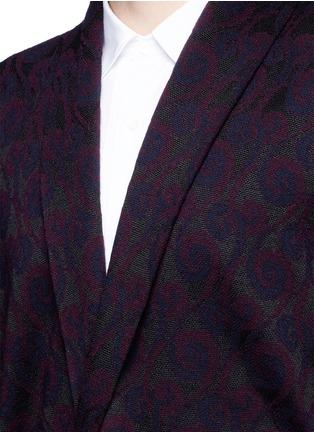 Detail View - Click To Enlarge - Dries Van Noten - 'Milton' peacock jacquard robe cardigan