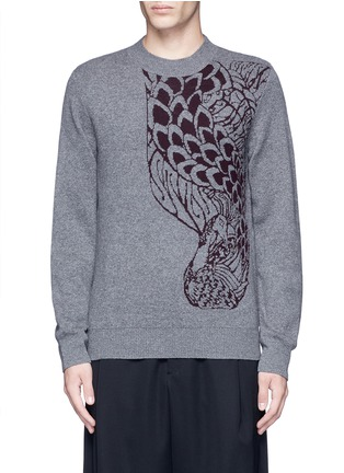 Main View - Click To Enlarge - Dries Van Noten - 'Midday' peacock jacquard cashmere-wool sweater