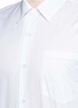 Detail View - Click To Enlarge - Dries Van Noten - 'Coen' placket trim cotton shirt