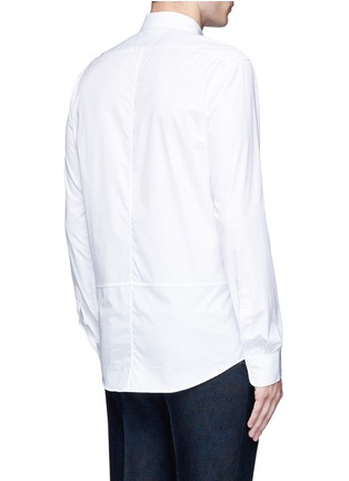 Back View - Click To Enlarge - Dries Van Noten - 'Coen' placket trim cotton shirt