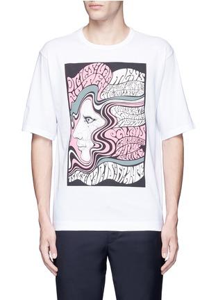 Main View - Click To Enlarge - Dries Van Noten - 'Heaton' oversized psychedelic print T-shirt