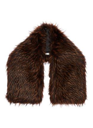 Main View - Click To Enlarge - Dries Van Noten - 'Geordie' faux fur shawl collar