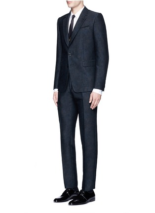 Figure View - Click To Enlarge - DRIES VAN NOTEN - 'Kenneth' slim fit jacquard suit