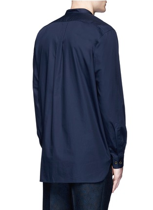 Back View - Click To Enlarge - Dries Van Noten - Face embroidery cotton poplin shirt