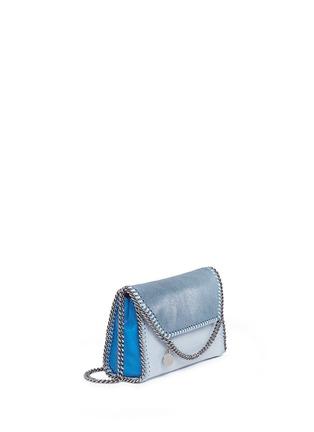 Front View - Click To Enlarge - Stella McCartney - 'Falabella' mini colourblock crossbody chain bag