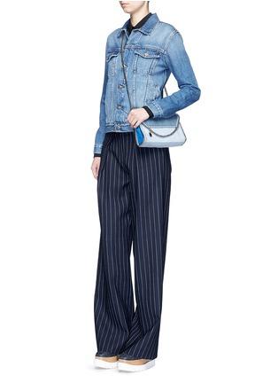 Figure View - Click To Enlarge - Stella McCartney - 'Falabella' mini colourblock crossbody chain bag