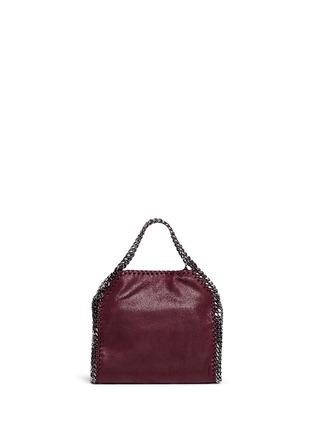 Back View - Click To Enlarge - STELLA MCCARTNEY - 'Falabella' mini shaggy deer crossbody chain tote