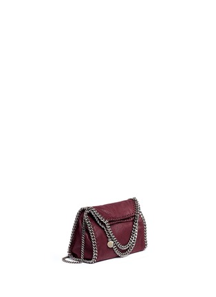 Front View - Click To Enlarge - STELLA MCCARTNEY - 'Falabella' mini shaggy deer crossbody chain tote