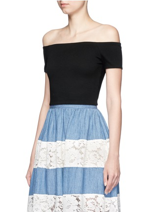 Front View - Click To Enlarge - alice + olivia - 'Gracelyn' off-shoulder cropped top