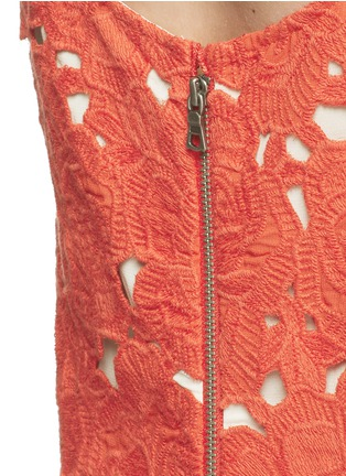 Detail View - Click To Enlarge - alice + olivia - 'Alanis' floral embroidery cutwork camisole