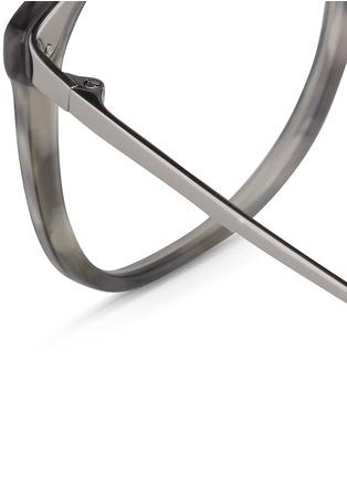 Detail View - Click To Enlarge - Linda Farrow - Titanium temple acetate optical glasses