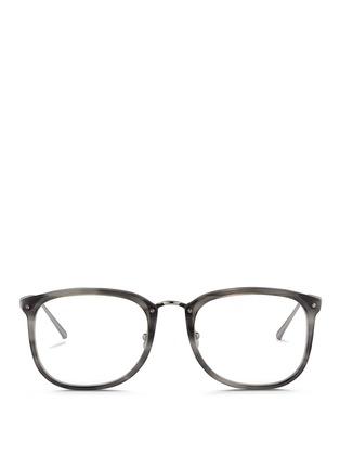 Main View - Click To Enlarge - Linda Farrow - Titanium temple acetate optical glasses