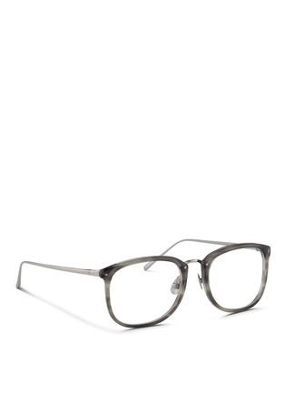 Figure View - Click To Enlarge - Linda Farrow - Titanium temple acetate optical glasses