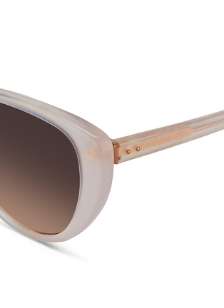 Detail View - Click To Enlarge - Linda Farrow - Wire core acetate cat eye sunglasses