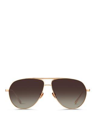 Main View - Click To Enlarge - Linda Farrow - Contrast bridge titanium aviator sunglasses