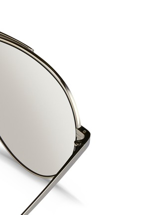 Detail View - Click To Enlarge - Linda Farrow - Contrast bridge titanium aviator sunglasses