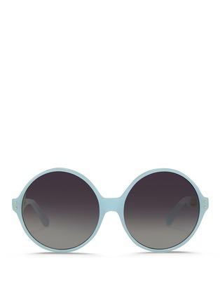 Main View - Click To Enlarge - Linda Farrow - Titanium caged temple acetate round sunglasses