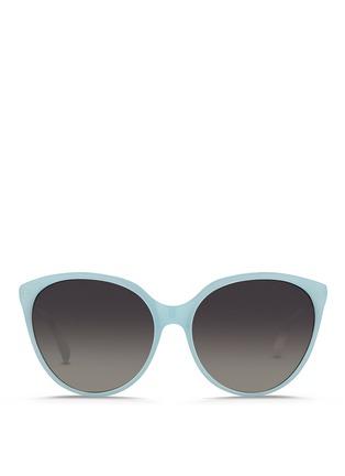 Main View - Click To Enlarge - Linda Farrow - Oversize cat eye acetate sunglasses