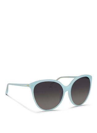 Figure View - Click To Enlarge - Linda Farrow - Oversize cat eye acetate sunglasses
