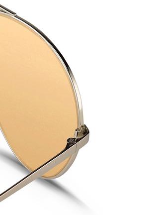 Detail View - Click To Enlarge - LINDA FARROW - Titanium aviator sunglasses