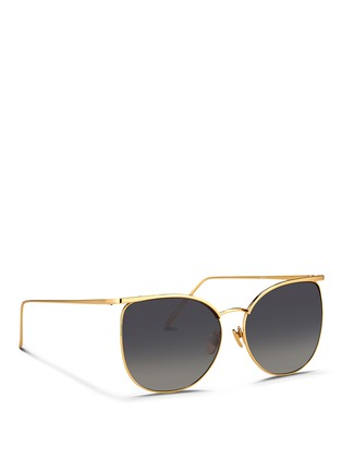 Figure View - Click To Enlarge - Linda Farrow - Titanium D-frame sunglasses