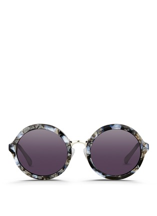 Main View - Click To Enlarge - 3.1 Phillip Lim - Layered shell effect acetate round sunglasses